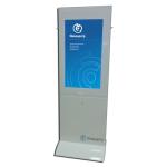 сенсорный специализированный терминал для инвалидов Invacenter Pro 42 c индукционной катушкой для людей с ослабленным слухом и планшетом для связи с диспетчером инвалида по слуху