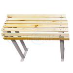 Скамья для инвалидов малая 600*793*288 мм. Деревянные рейки.