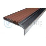 Алюминиевый накладной угол-порог 42/23 мм коричневый