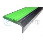 Накладка на ступени угловая  противоскользящая, зеленая