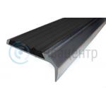 Противоскользящий алюминиевый угол-порог Черный 42 мм 23мм