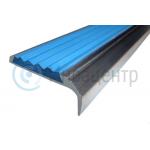 Алюминиевый накладной угол-порог 42 мм/23 мм синий