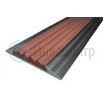 Алюминиевая полоса Стандарт 40 мм. Коричневая