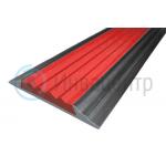 Алюминиевая накладная полоса 46 мм/5 мм. Цвет красный