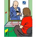 Пример установки индукционной информационной системы для инвалидов по слуху ИП-2
