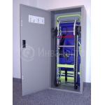 Эвакуатор для лестниц, пример хранения в шкафу