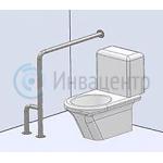 Пример установки поручня с двойной опорой в пол