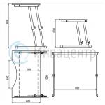 Схема стола для инвалидов СИ-1