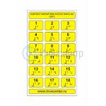 Набор тактильных наклеек для маркировки кнопок лифта №2