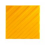 Тактильная плитка ПВХ 300х300 диагональ желтая