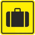 Тактильная пиктограмма Место получения багажа 100x100 мм