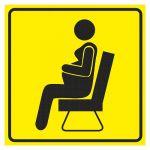 Тактильная пиктограмма Место отдыха для беременных 100x100 мм