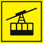 Тактильная пиктограмма Фуникулер 150x150 мм