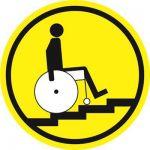 Тактильная пиктограмма G10 Осторожно! Лестница вверх 150x150 мм