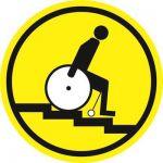 Тактильная пиктограмма G11 Осторожно! Лестница вниз 200x200 мм