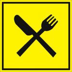 Тактильная пиктограмма Ресторан 100x100 мм