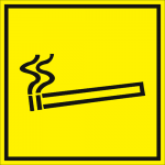 Тактильная пиктограмма Место для курения 200x200 мм
