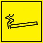 Тактильная пиктограмма Место для курения 100x100 мм