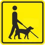 Тактильная пиктограмма Собака-поводырь 100x100 мм