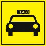 Тактильная пиктограмма Стоянка такси 100x100 мм