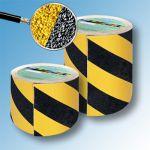 Сигнальная противоскользящая лента AntiSlip 60 grit 150мм/18м желто-черная