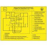 Тактильная мнемосхема ПВХ 410x550 мм желтая