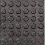 Тактильная плитка керамическая 300x300 мм с линейными конусными рифами, черная