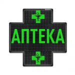 Светодиодный аптечный крест P10 640x640 двухсторонний зеленый