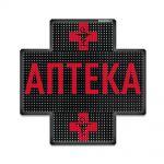Светодиодный аптечный крест P10 640x640 односторонний красный