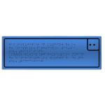 Тактильная табличка шрифтом Брайля Композит 100x300 мм