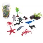 """Набор фигурок для песочной терапии """"Морские обитатели"""" 10 шт с аксессуарами"""