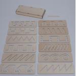 Трафареты для песочной анимации + ПЕНАЛ (12 трафаретов)