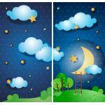 Комплект светонепроницаемых штор Приятных снов