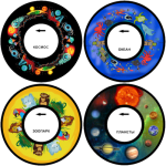 Твердый диск с изображением для проектора меркурий