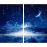 Комплект светонепроницаемых штор Спокойной ночи