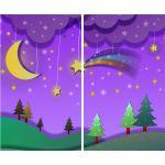 Комплект светонепроницаемых штор Сказочная ночь