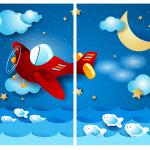 Комплект светонепроницаемых штор Ночной самолет