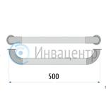 Поручень прямой настенный 50 см ПН50 нерж. сталь d-38