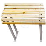 Скамейка для инвалидов 800*600*430 мм. Деревянные рейки