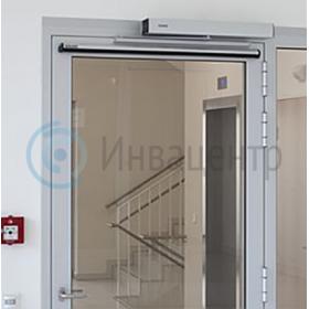 Пример установки системы автоматического открывания дверей dsw-100