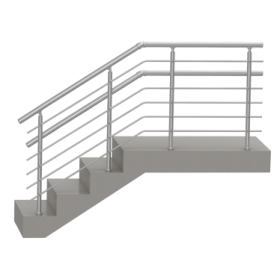 Перила двойные для лестницы