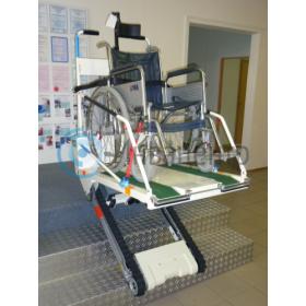 Вид с креслом-коляской во время подъема