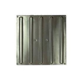Плитка тактильная полоса 300х300х7, нерж сталь AISI304