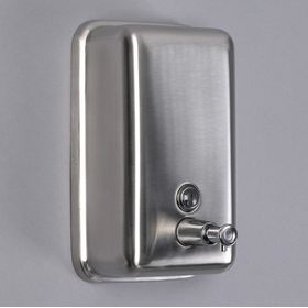 Дозатор для мыла механический SL Практик. 1000 мл нерж. сталь