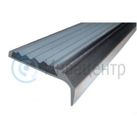 Алюминиевый накладной угол-порог 42 мм/23 мм серый