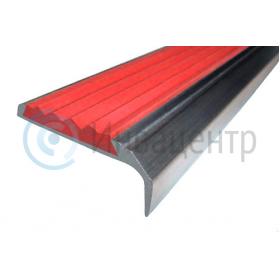 Угловая накладка на ступени противоскользящая красная