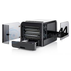 Открытые лотки на принтере BrailleBox V5