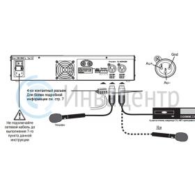 Подключения информационной индукционной системы для слабослышащих ИС-1000
