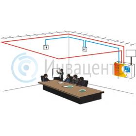 Пример установки индукционной системы для слабослышащих ИС-120