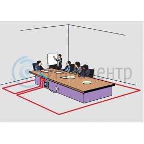 Пример установки индукционной информационной системы для слабослышащих ИС-50Л с настольным микрофоном